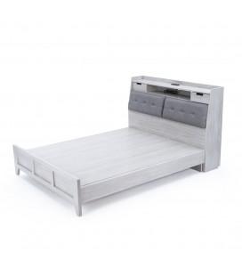 Khaki 床頭收納床架